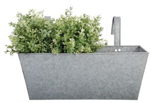 Zinc Balcony Planter Metal Pot Holder Flowerpot Window Box